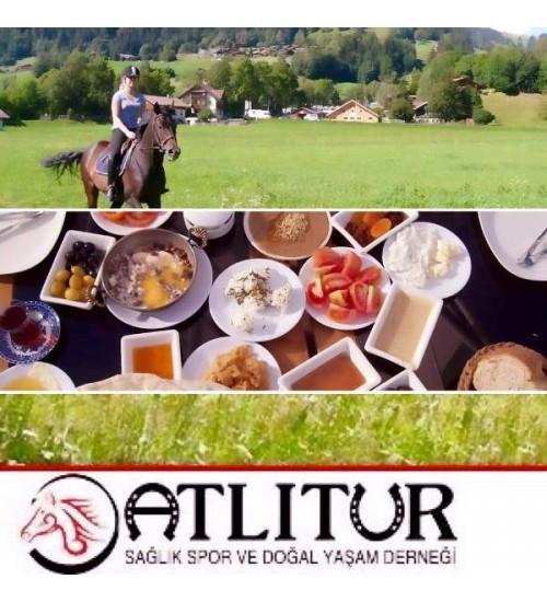 Çiftlik Kahvaltısı ( Serpme Kahvaltı ) ve Doğada Atlı Tur 15 Dk.
